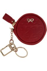 Anya Hindmarch Maeve Round Leather Key Fob - Lyst