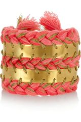 Aurelie Bidermann Copacabana Gold-plated Cuff - Lyst