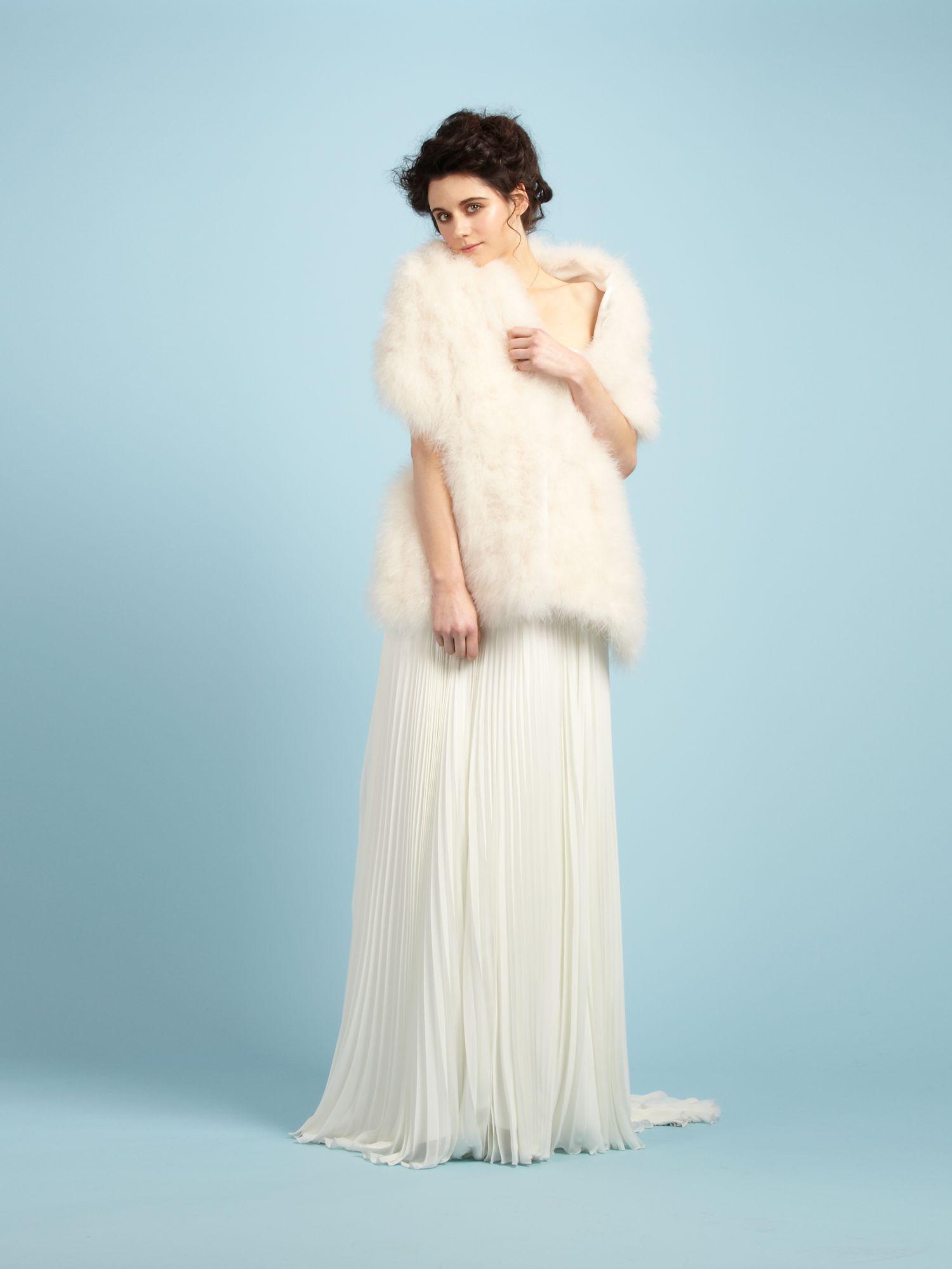 Lyst - Biba Marabou Feather Stole in White