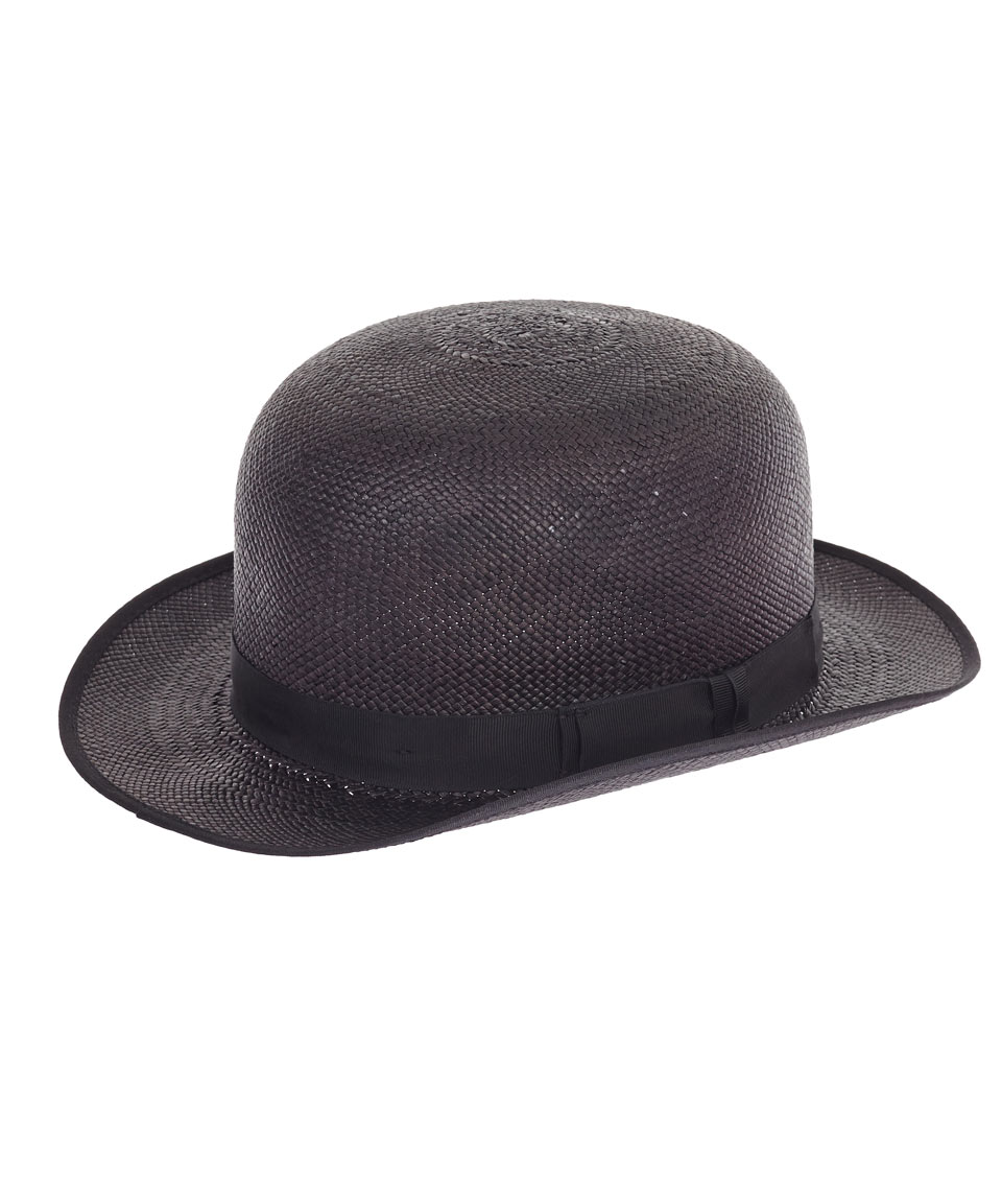 christys black panama straw bowler hat in black lyst