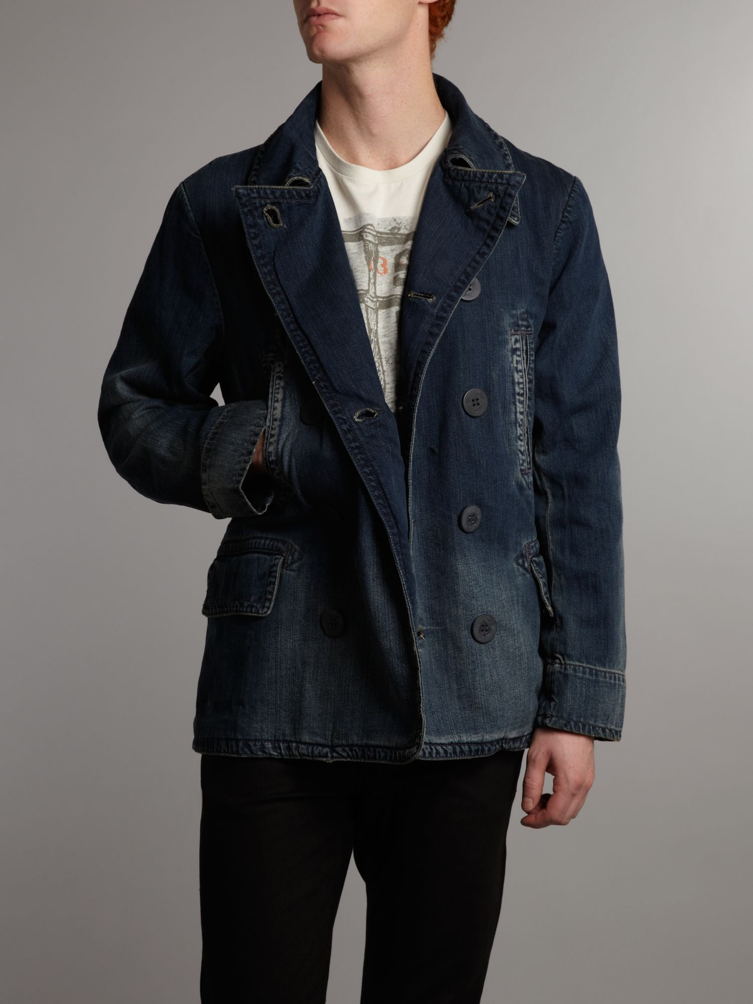 IL_ Mens Iridescent Denim Winter Peacoat double breasted Long Trench Coat Black Long Style $ IL_ Men's Navy Blue Denim Long Style Winter Peacoat double breasted Long Trench Coat $ SKU#JR Men's 44 Inch Winter Peacoat Long Wool Blend Double breasted Peacoat Full Length Top Coat Black $