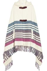 Emilio Pucci Hooded Striped Knitted Cape - Lyst