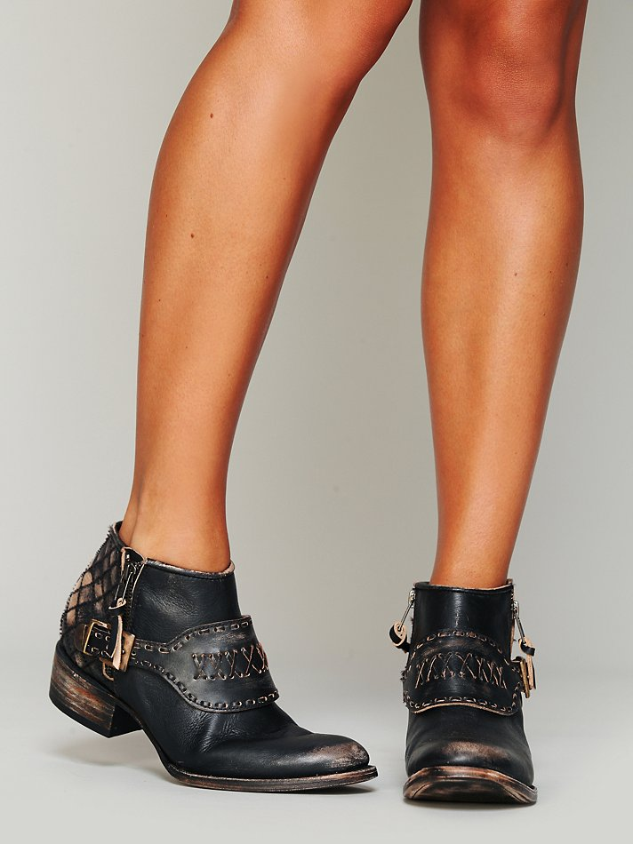 Lyst Free People Luxton Ankle Boot In Black