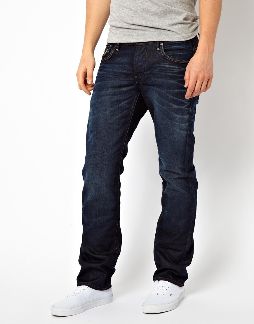 846bfb9864a81 Lyst - G-Star Raw G Star Jeans Attacc Low Straight Dark Aged in Blue ...