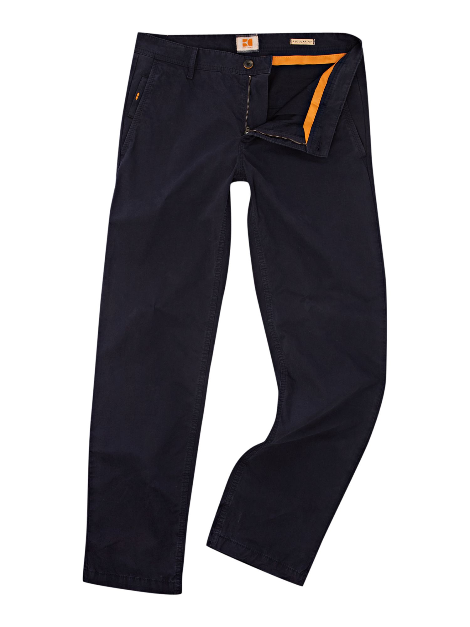 boss schino regular fit chino trousers in blue for men dark navy lyst. Black Bedroom Furniture Sets. Home Design Ideas