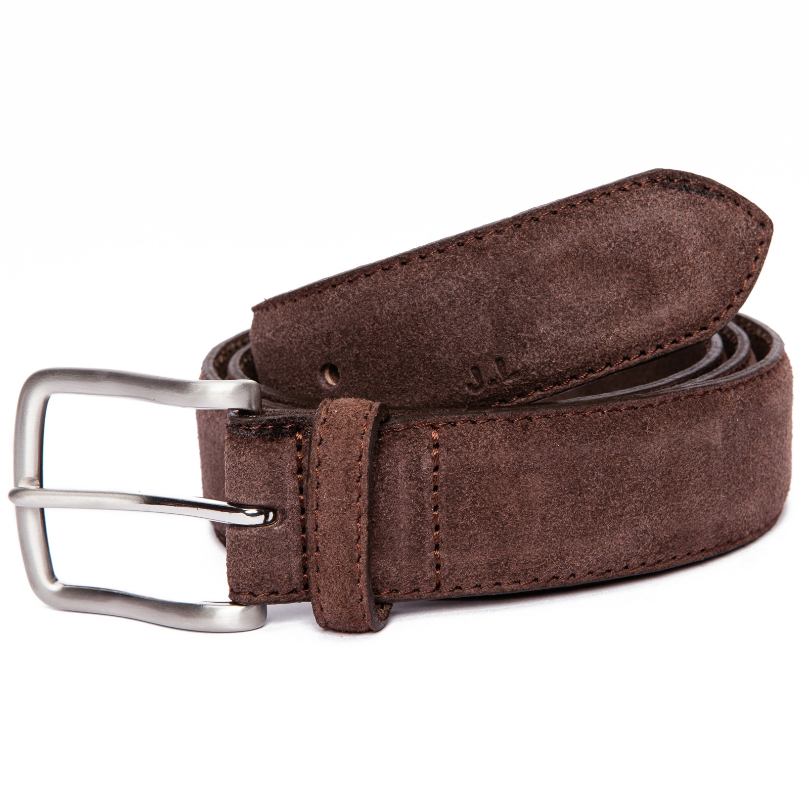 j lindeberg classic suede belt in brown for lyst