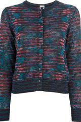 M Missoni Printed Button Down Cardigan - Lyst