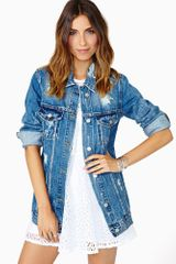 Nasty Gal Rambler Denim Jacket - Lyst