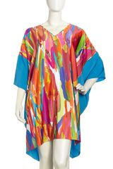 Natori Knee Length Printed Caftan - Lyst