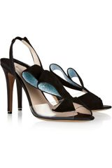 Nicholas Kirkwood Glitterfinished Suede and Pvc Sandals - Lyst