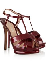 Nicholas Kirkwood Patentleather Sandals - Lyst