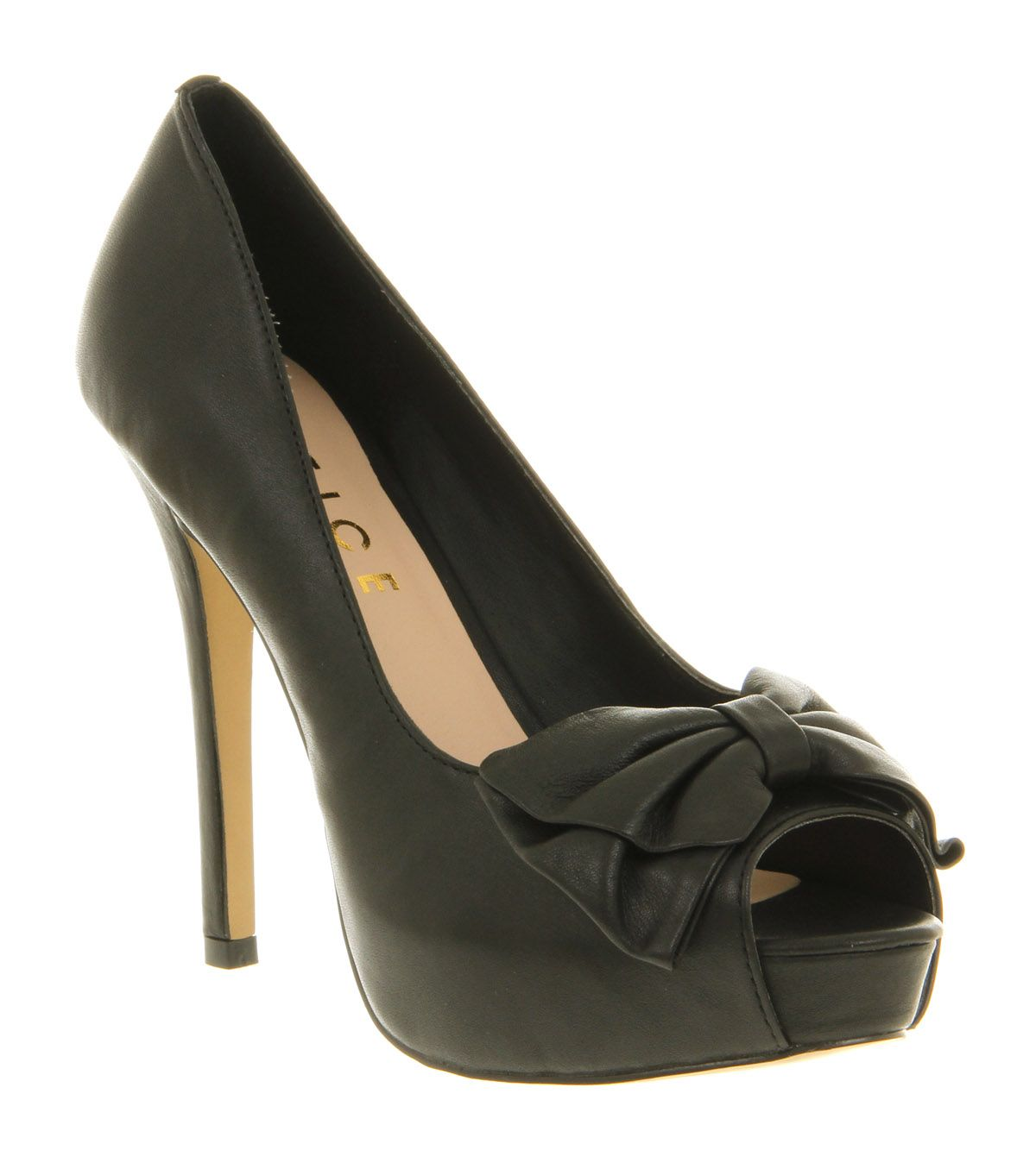 office sweetheart bow court shoes in black lyst
