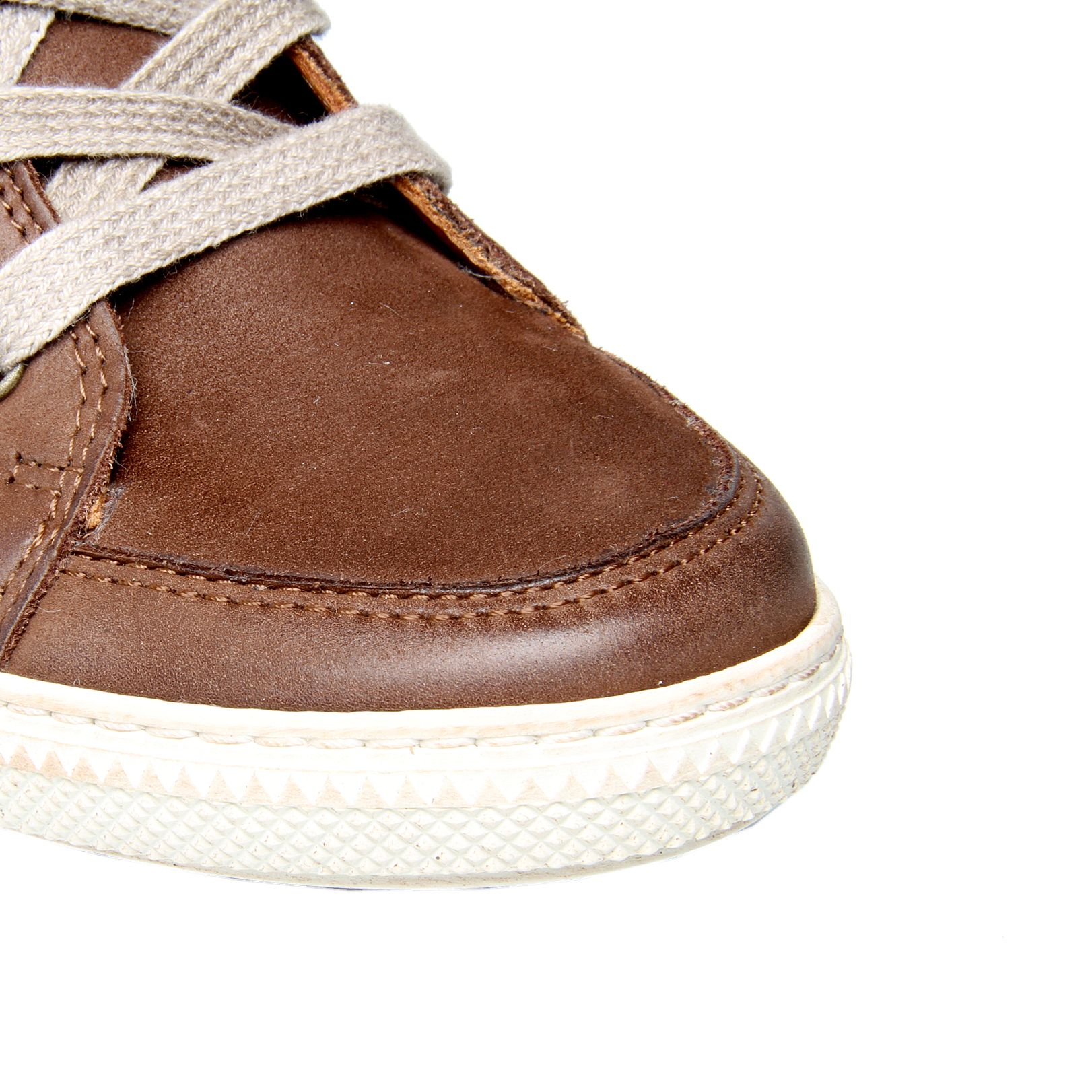 paul green penelope hitop wedge trainer shoes in brown lyst
