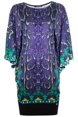 Roberto Cavalli Python Print Mini Dress - Lyst
