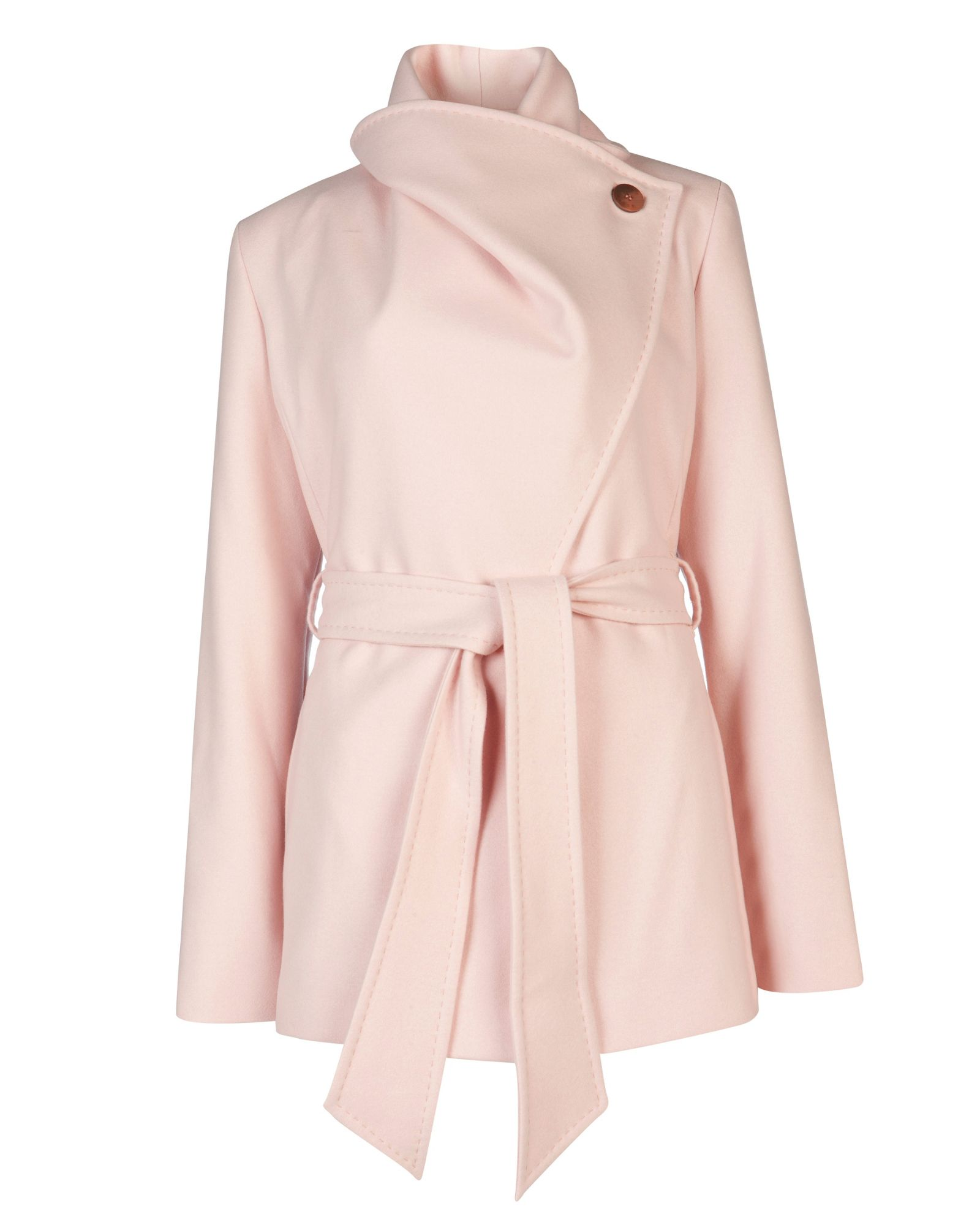 Ted baker Matild Short Wrap Coat in Pink | Lyst