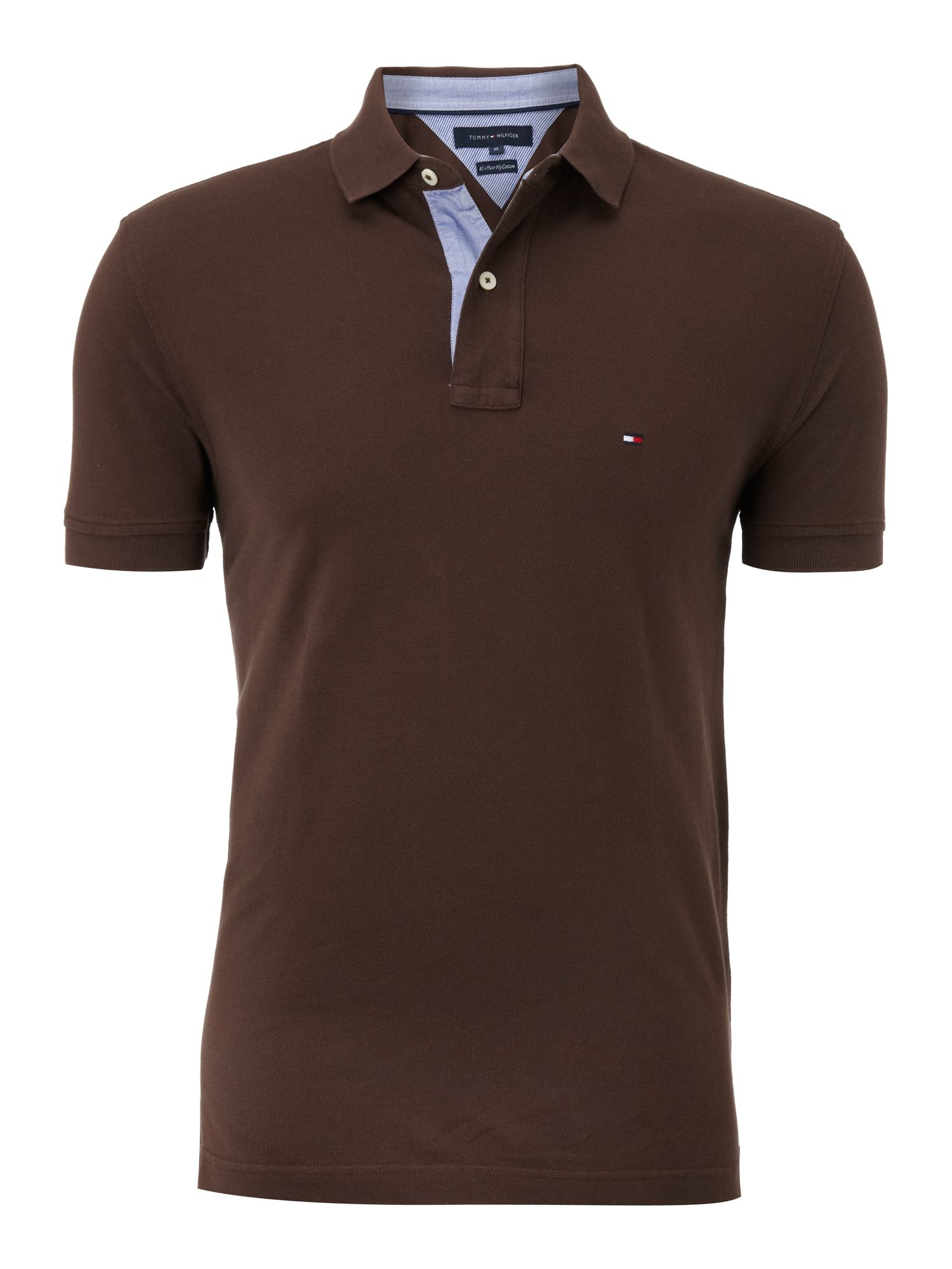 Tommy Hilfiger Classic Tommy Polo Shirt In Brown For Men