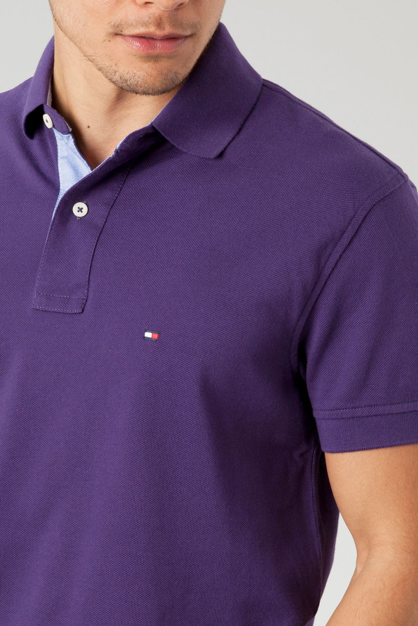Tommy Hilfiger Classic Tommy Polo Shirt In Purple For Men