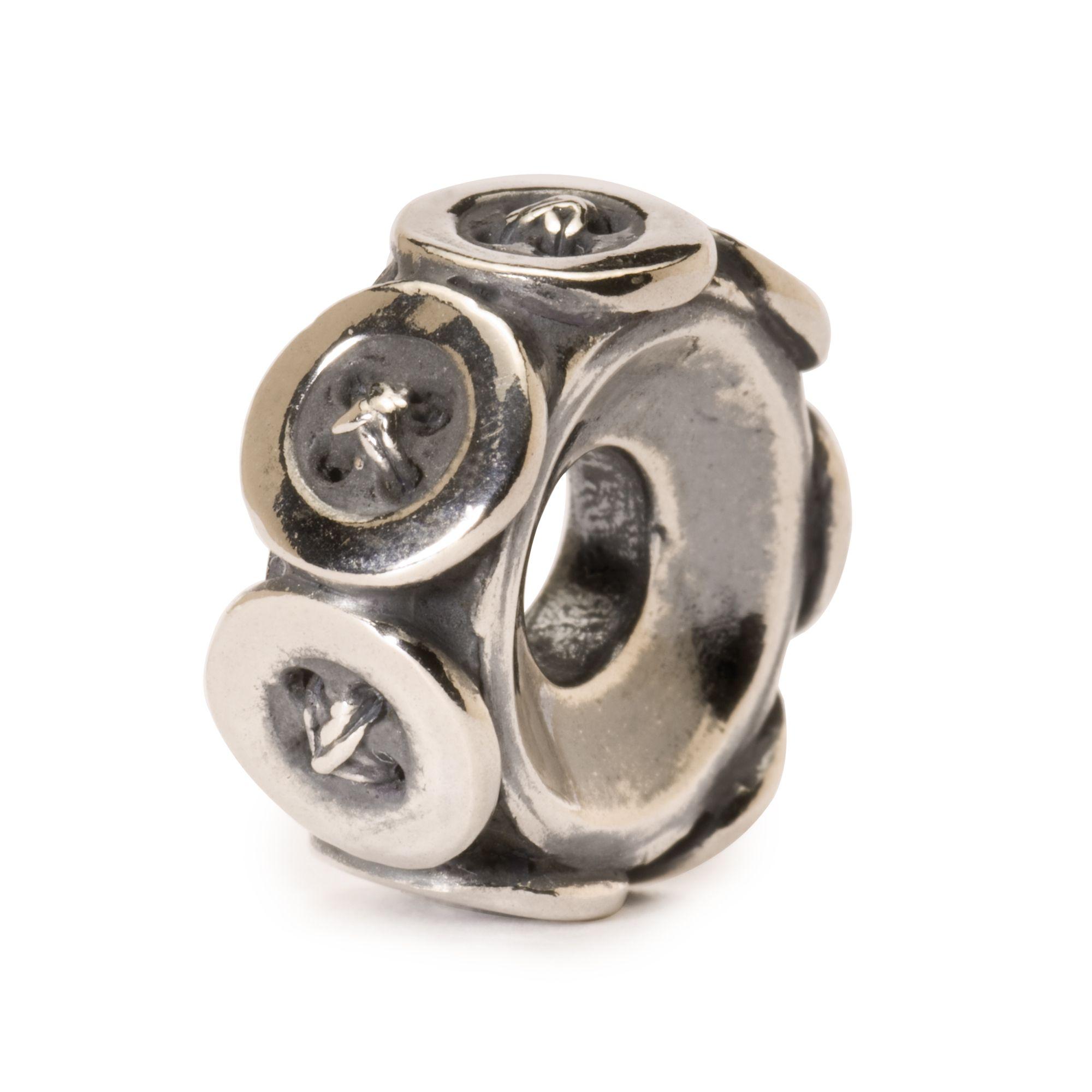 Trollbeads Buttons Silver Charm Bead In Metallic Lyst