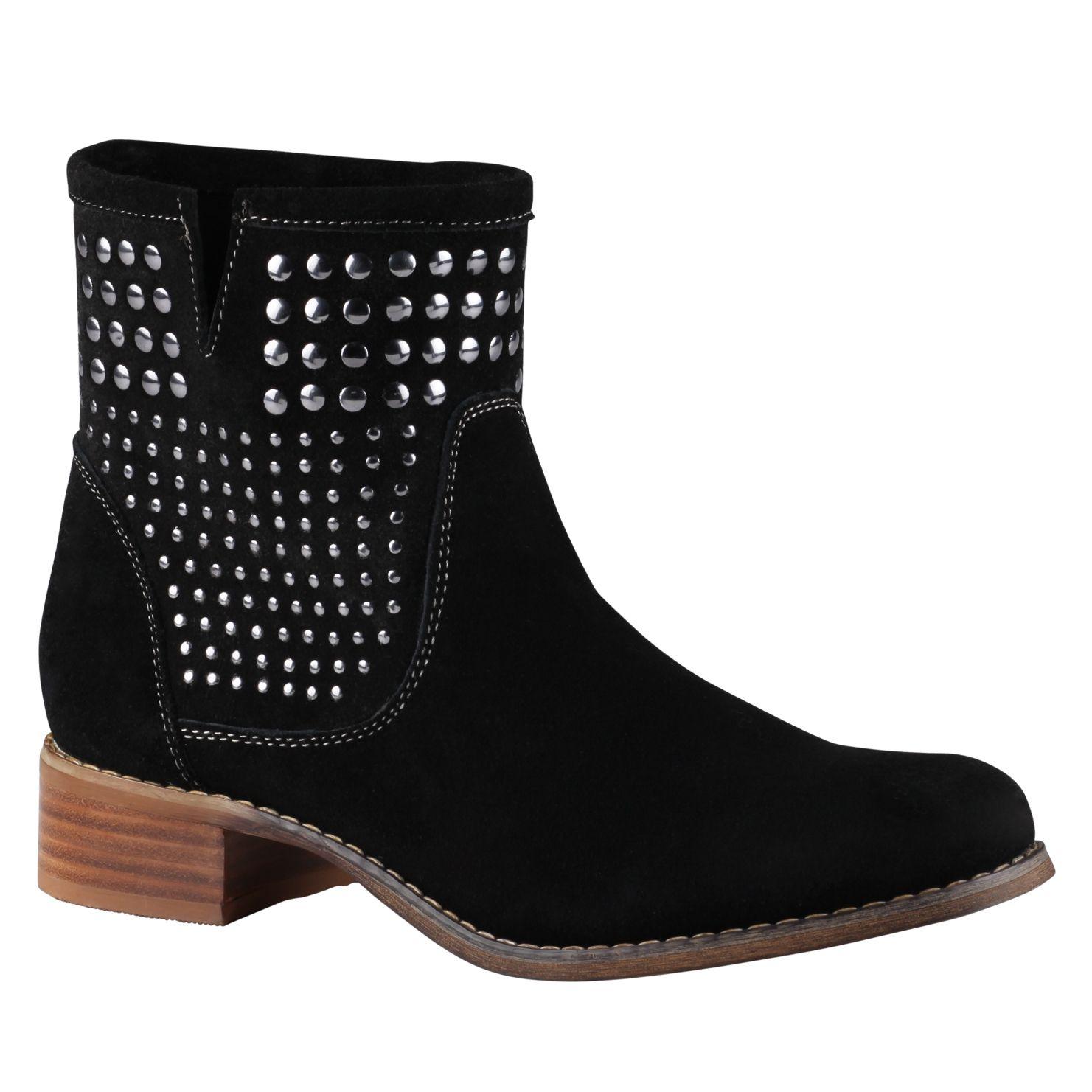 aldo bibbs stud ankle boots in black for lyst
