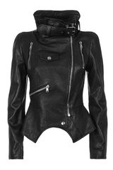 Alexander McQueen Leather Biker Jacket - Lyst