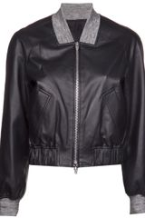 Alexander Wang Leather Bomber Jacket - Lyst