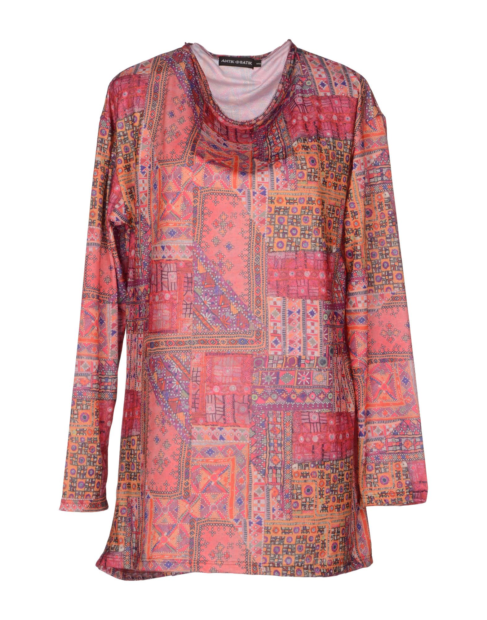 antik batik long sleeve t shirt in pink lyst. Black Bedroom Furniture Sets. Home Design Ideas