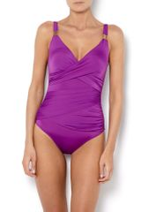 Biba Goddess Swimsuit in Purple - Lyst