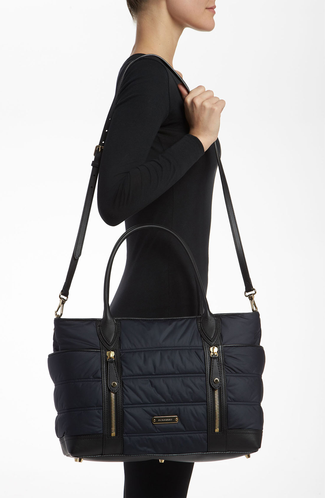 Burberry Olympia Large Quilted Diaper Bag In Blue Lyst