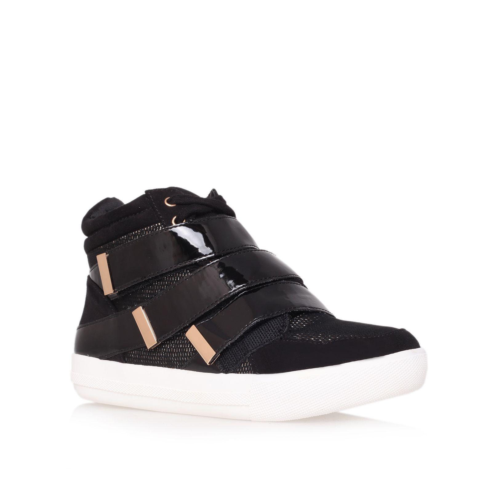 carvela kurt geiger listen trainer shoes in black for