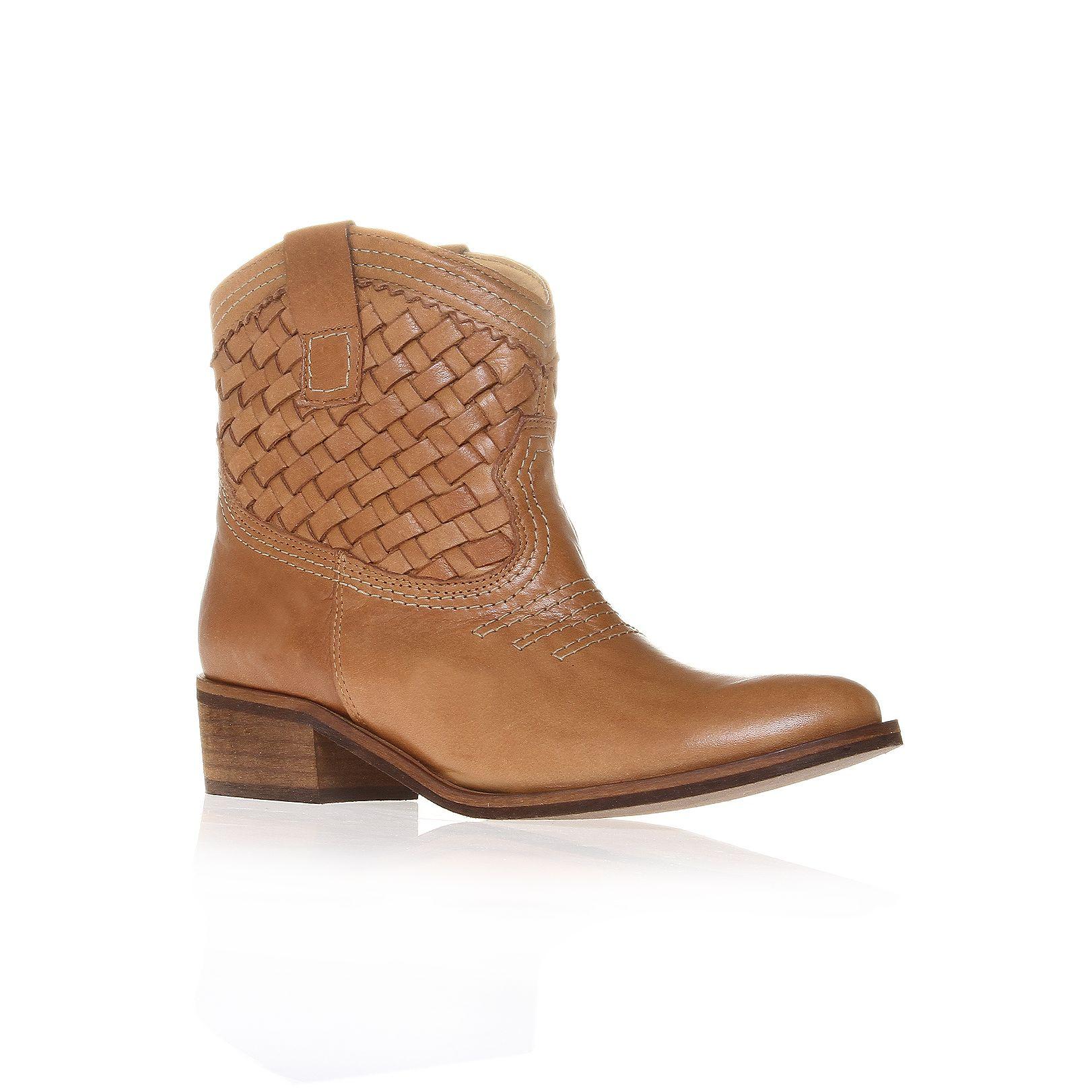 Carvela Kurt Geiger Salt Cowboy Style Ankle Boots In Brown For Men (Tan) | Lyst
