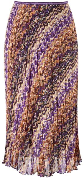 Cc Chocolatepurple Chevron Crinkle Skirt - Lyst