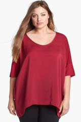 DKNY Drop Shoulder Top - Lyst
