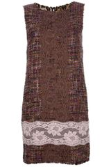 Dolce & Gabbana Lace Detail Bouclã Dress - Lyst