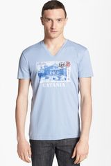 Dolce & Gabbana Graphic V-neck T-shirt - Lyst