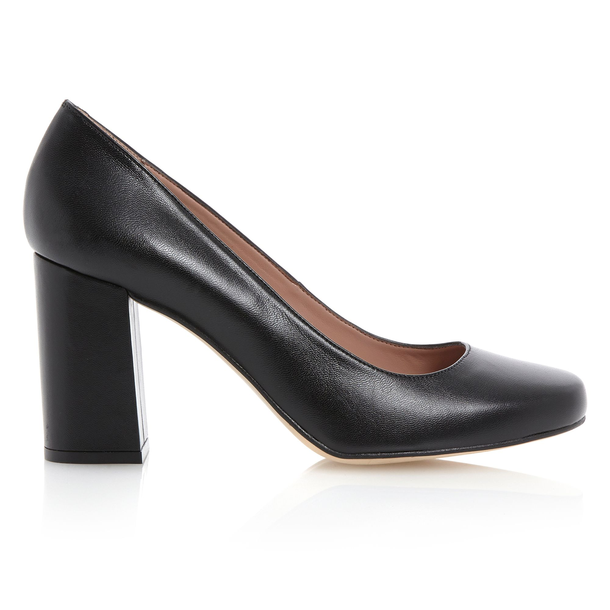 Block Heel Black Shoes