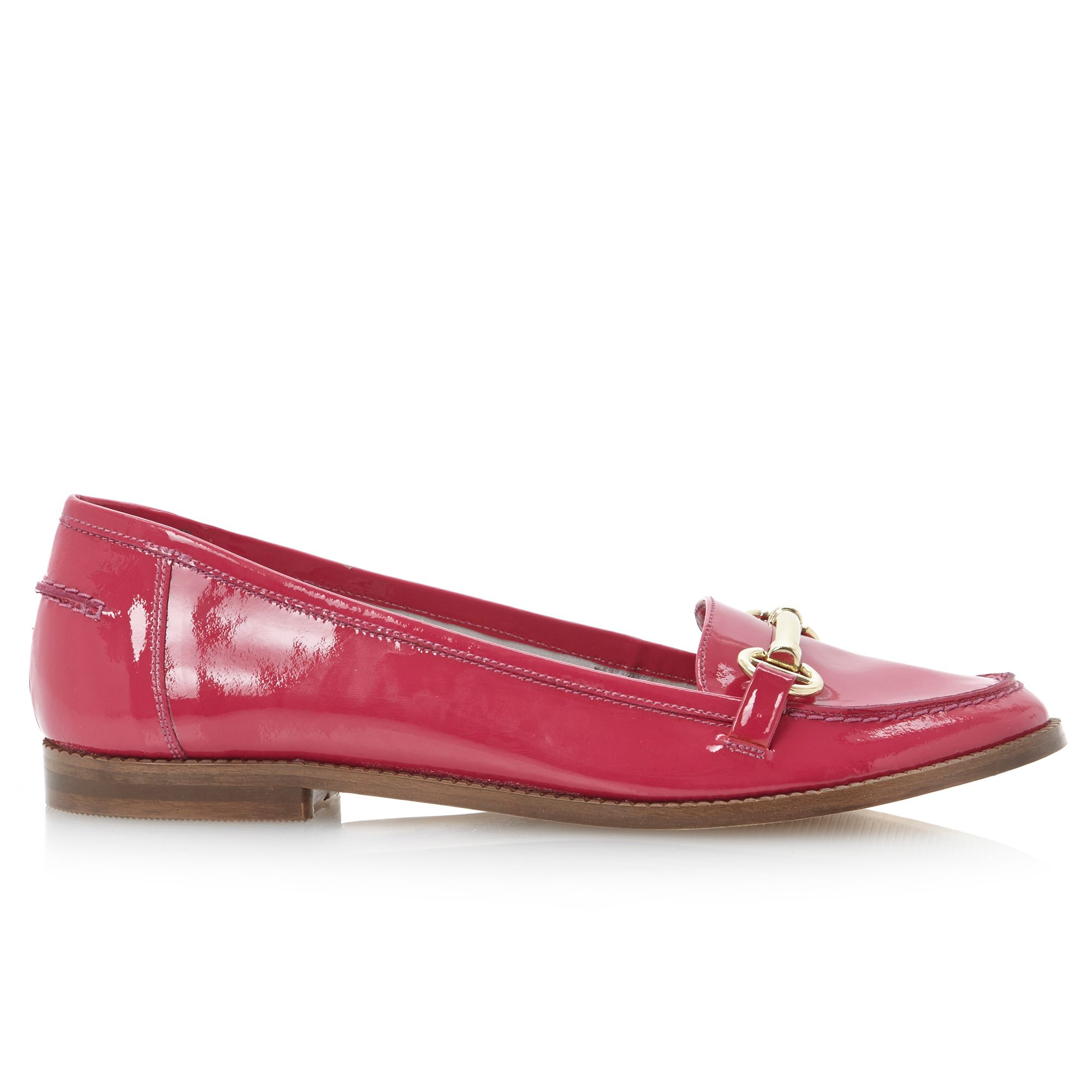 dune leo snaffle bright loafer shoes in pink lyst