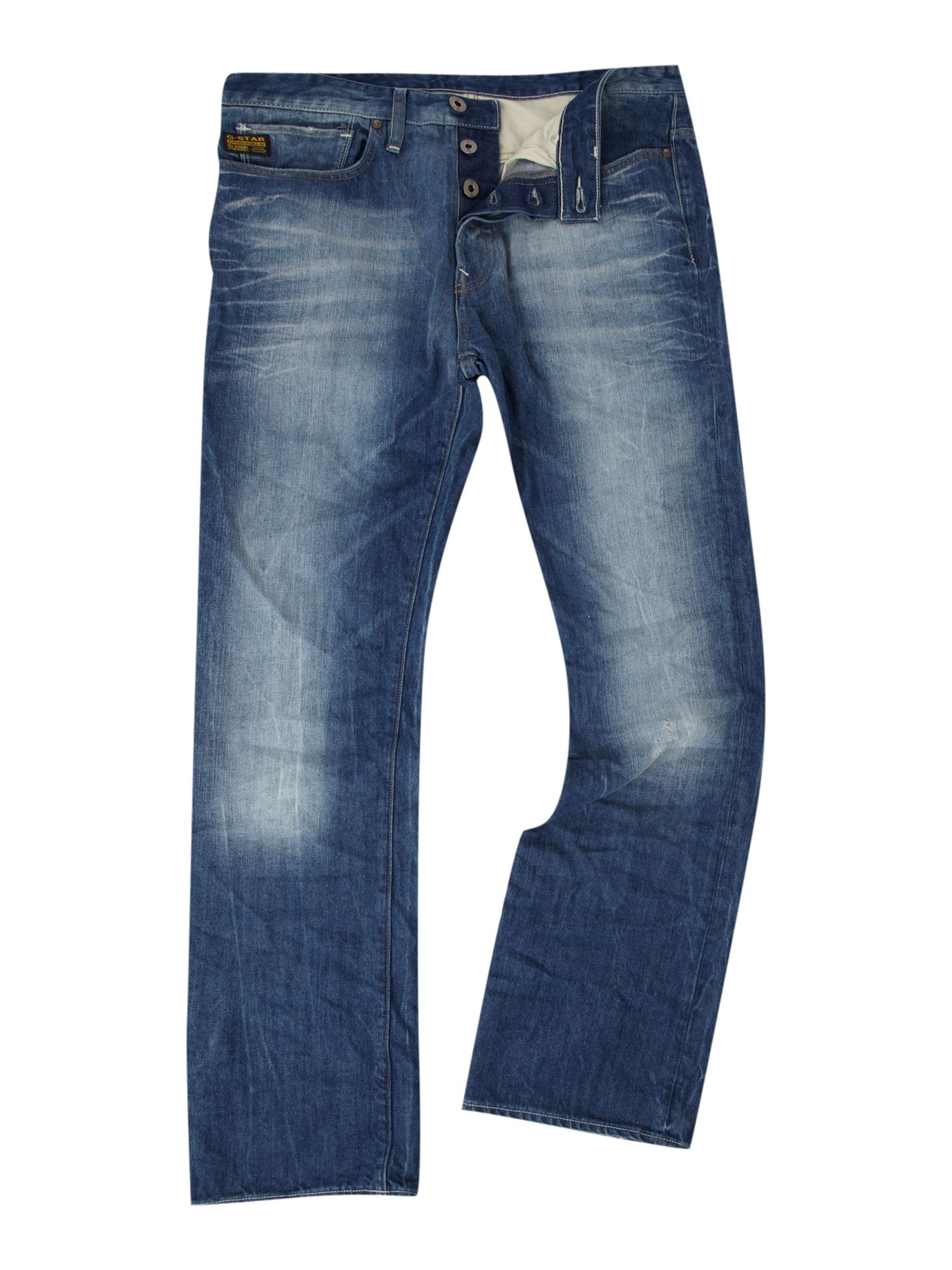g star raw yield loose jeans in blue for men denim lyst. Black Bedroom Furniture Sets. Home Design Ideas