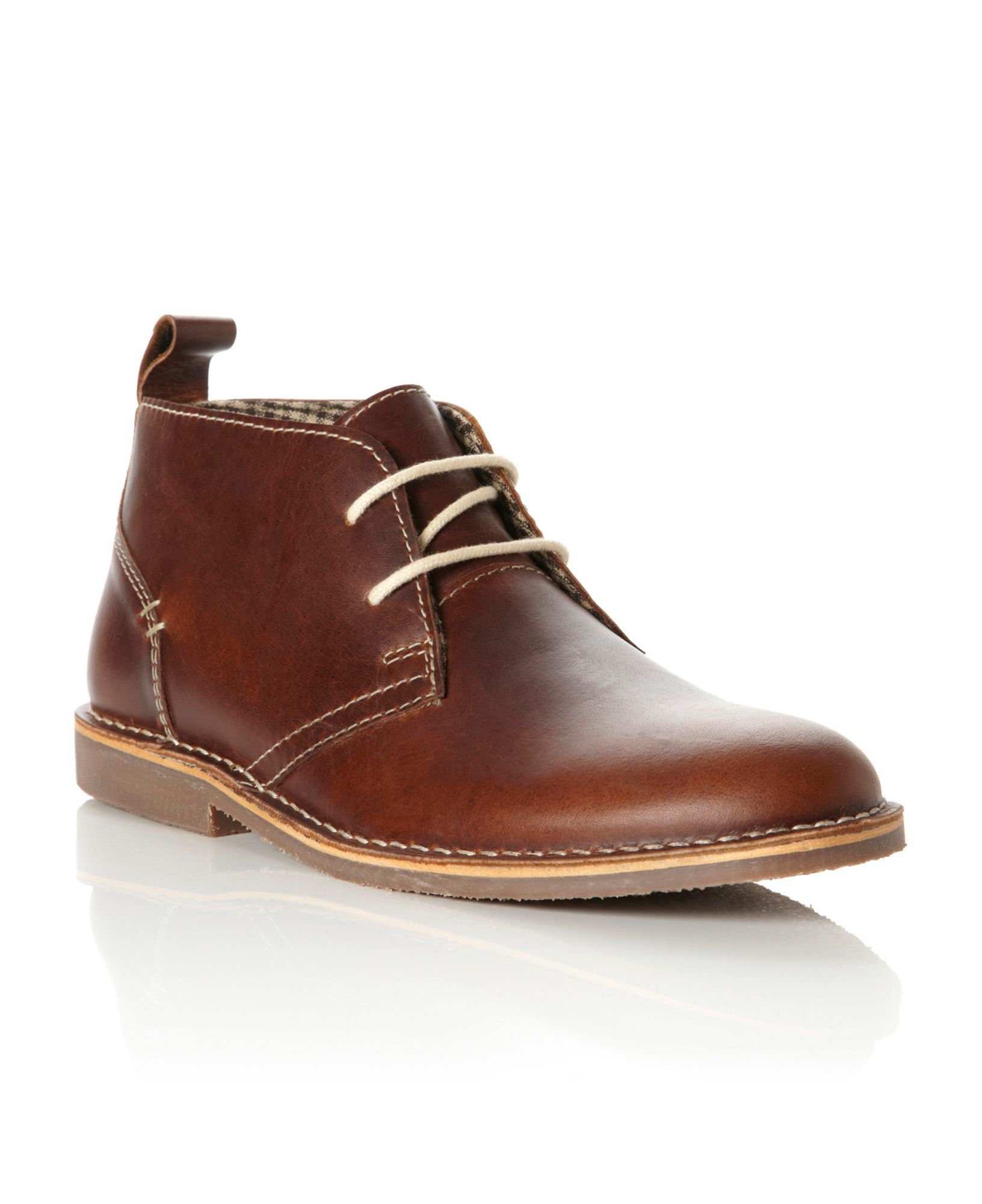 howick hstead suede lace up desert boots in brown for