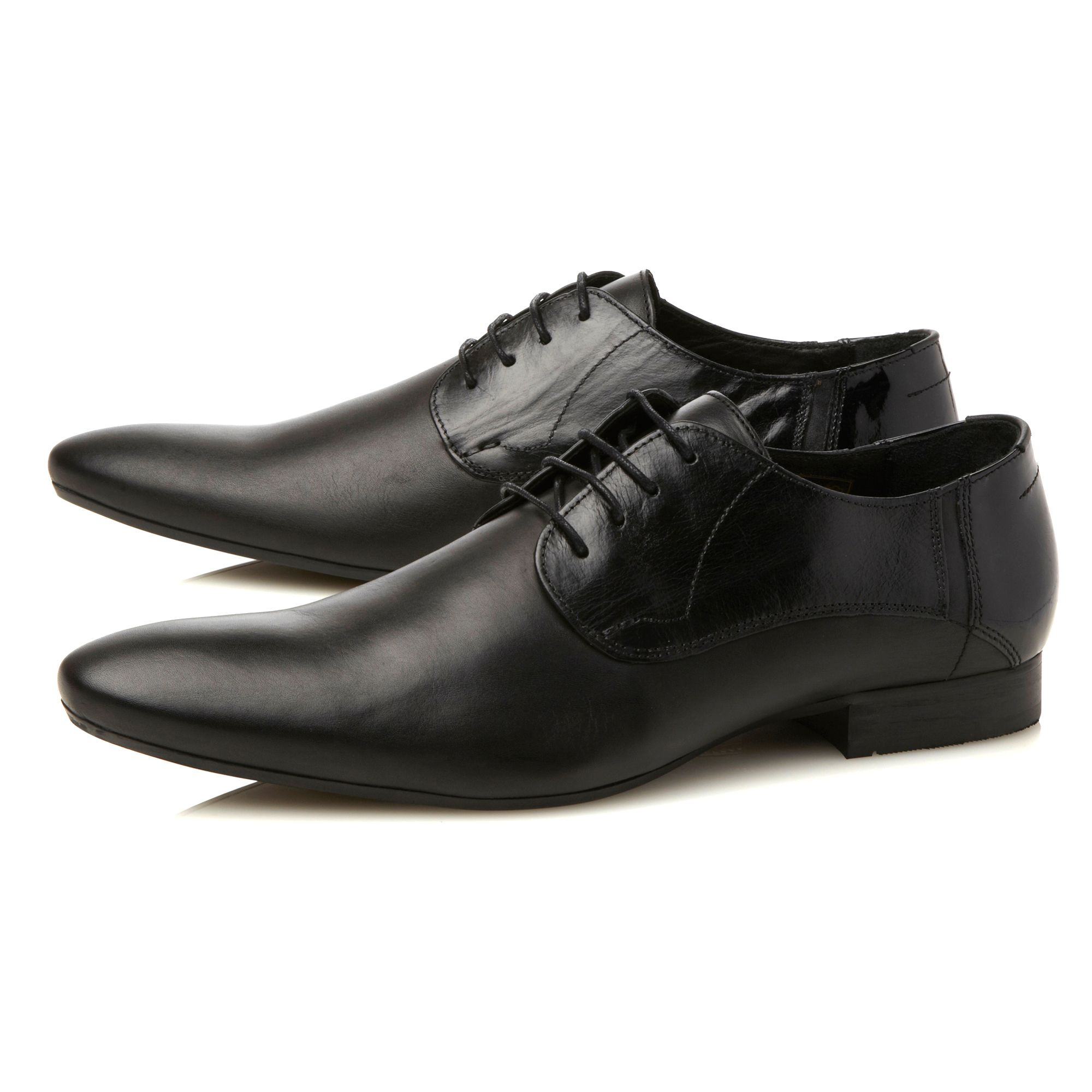 hudson ritchie leather lace up formal shoes in black