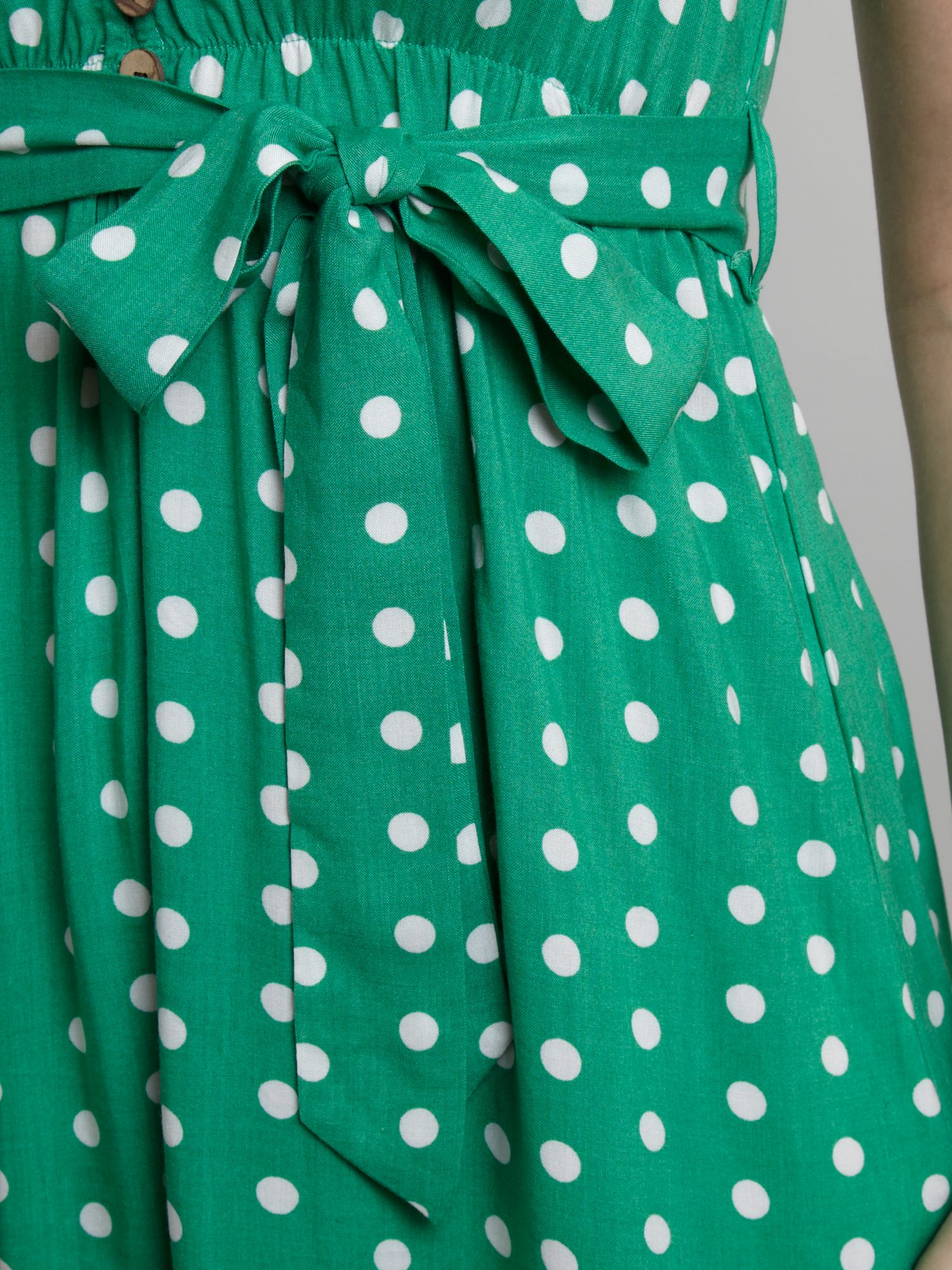 Izabel london Polka Dot Dress in Green | Lyst