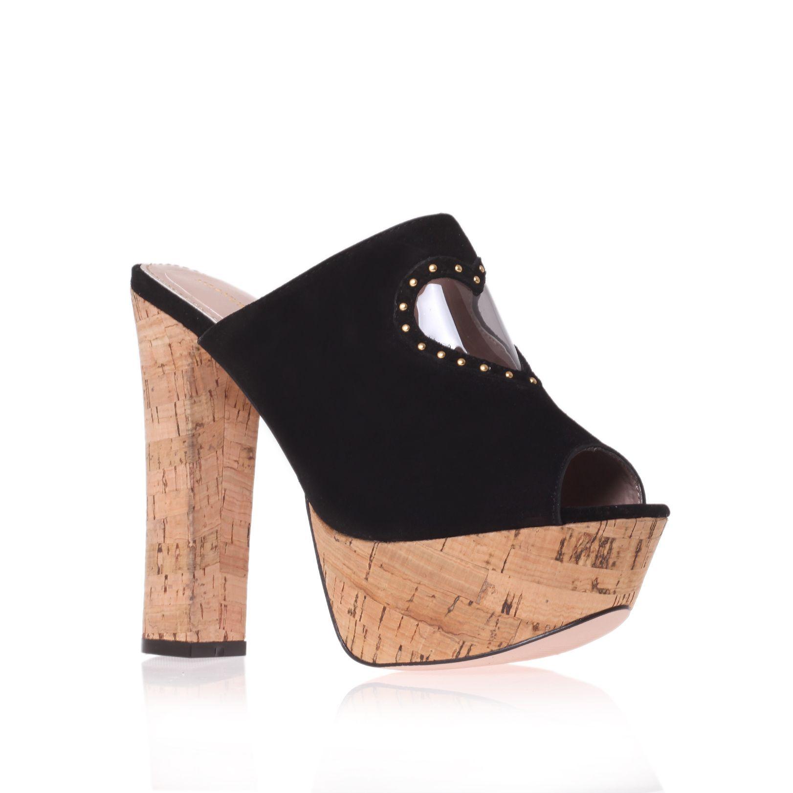kg kurt geiger nelly mule shoes in black lyst