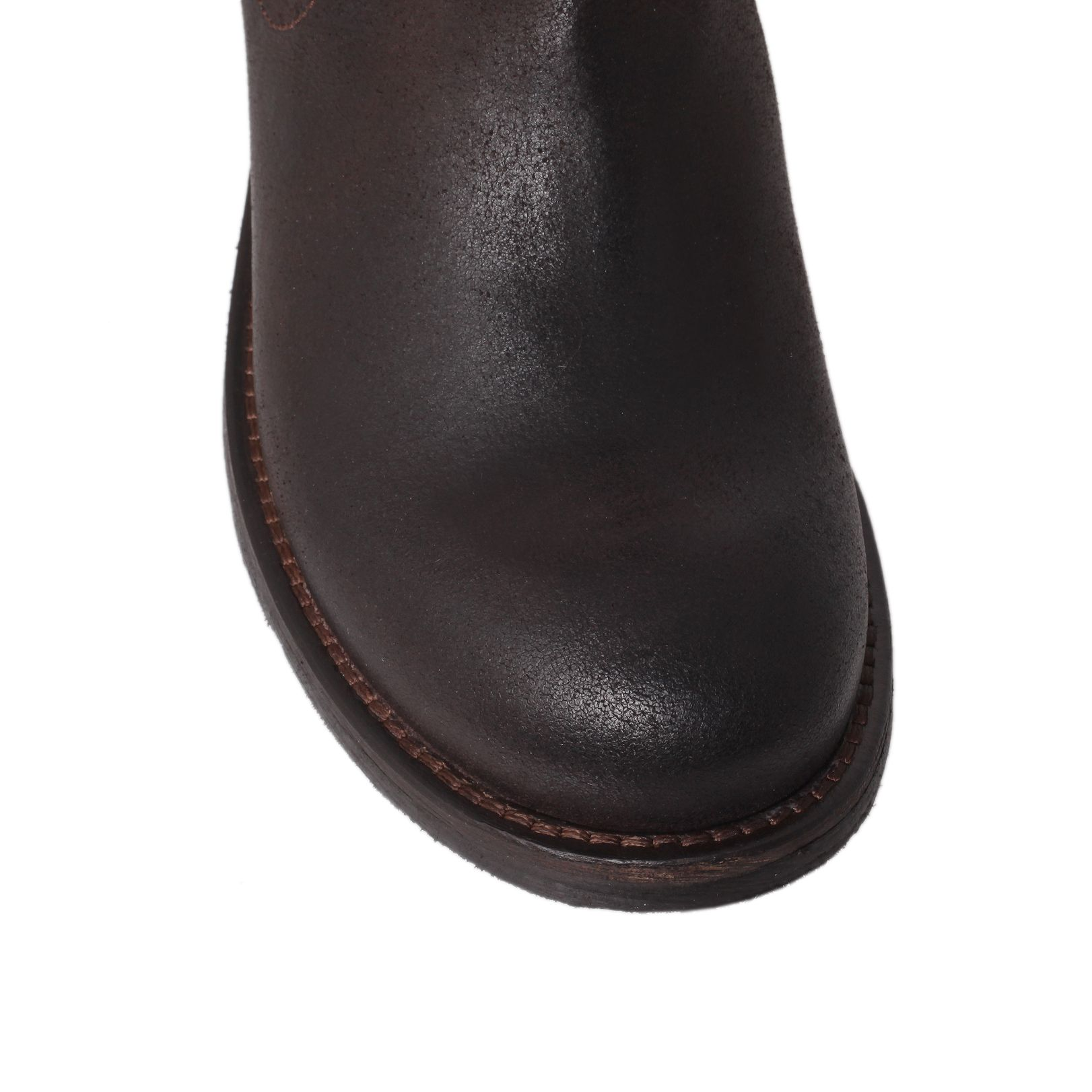 kurt geiger sargent boots in brown for lyst