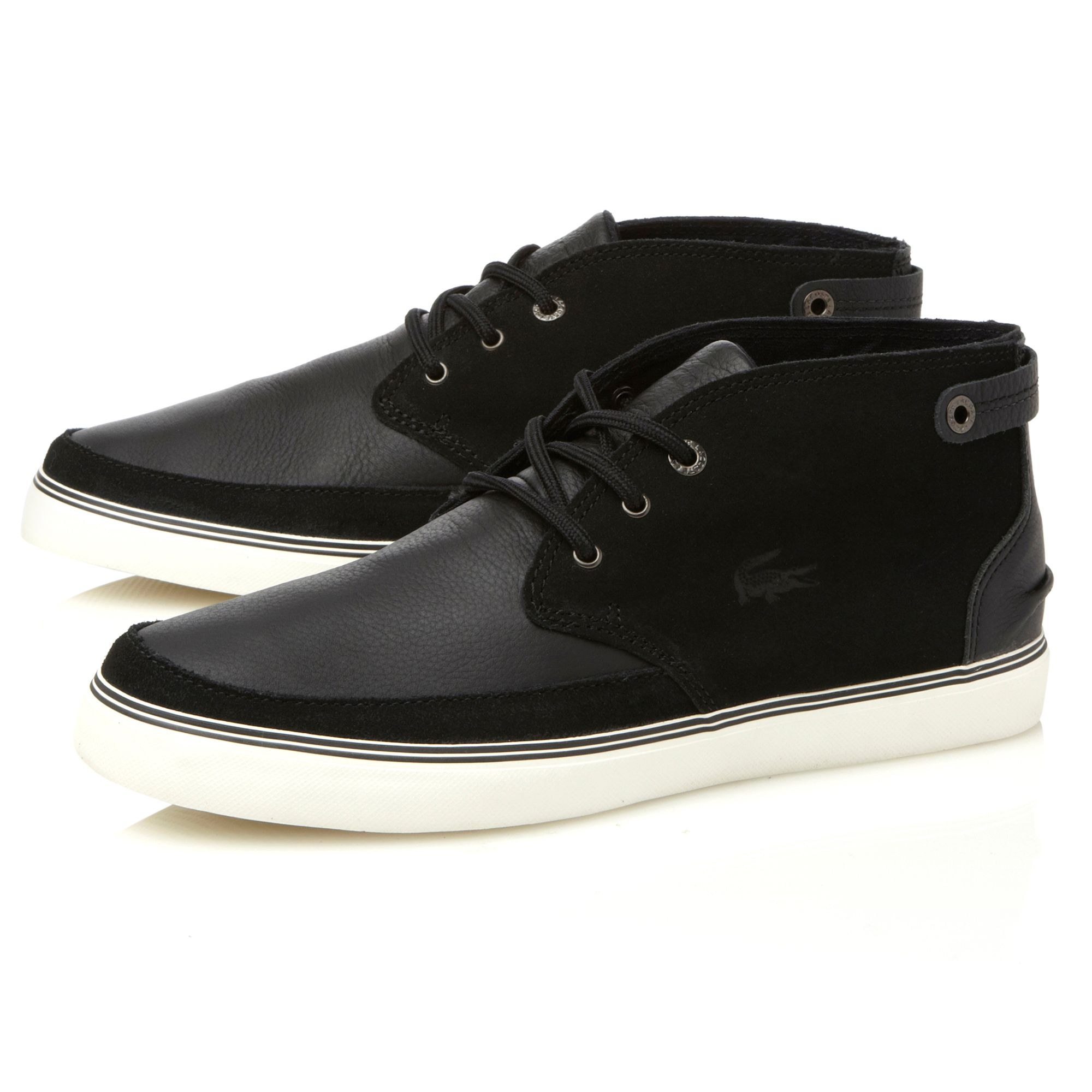 lacoste clavel 7 casual boots in black for lyst