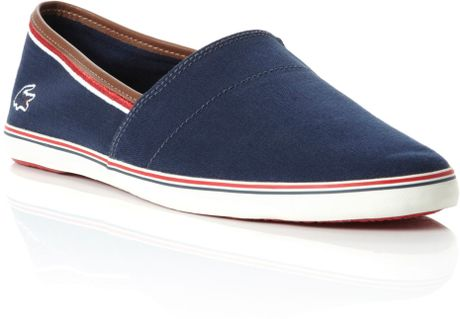 lacoste aimard slip on casual shoes in blue for men navy