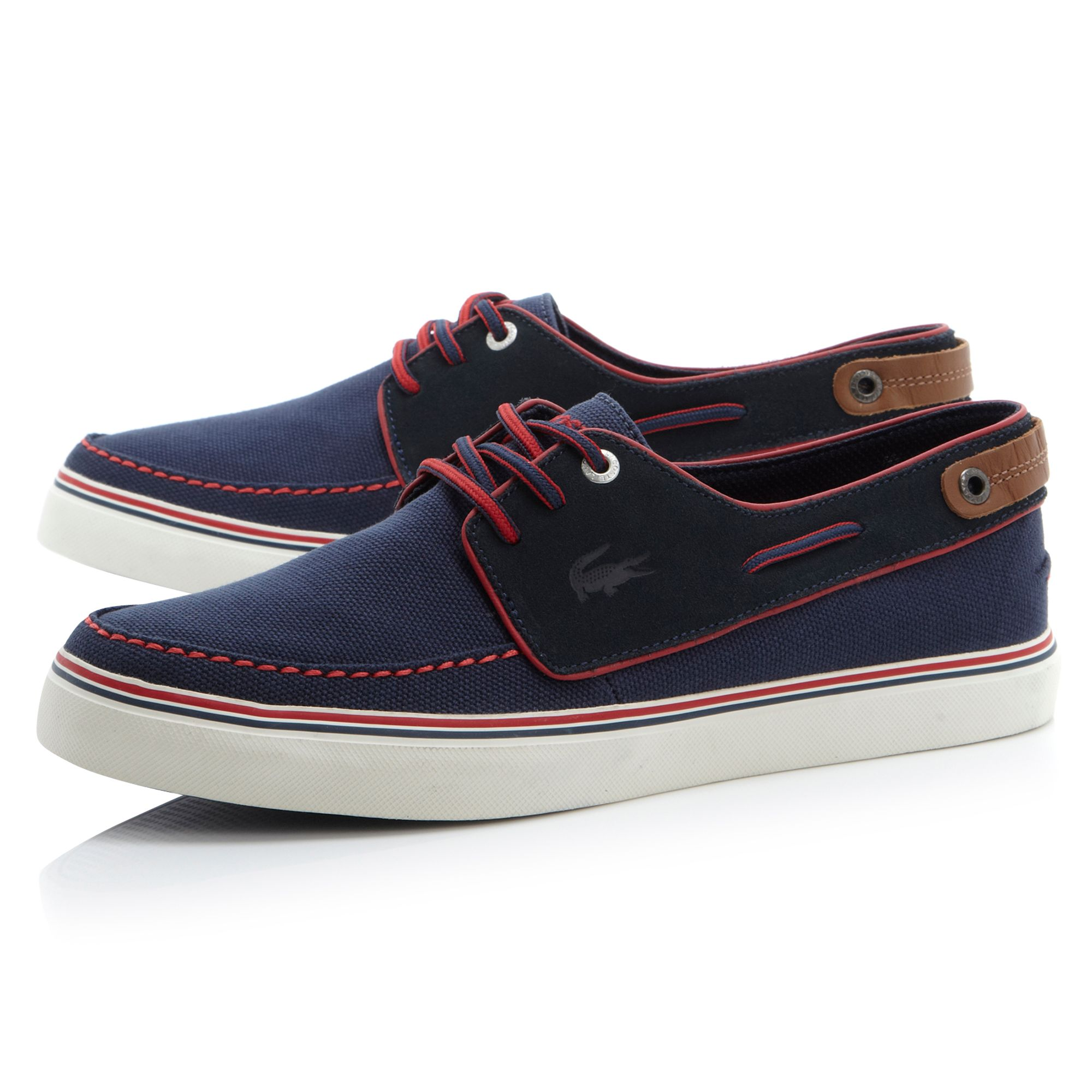 lacoste sumac apron detail casual shoes in blue for lyst