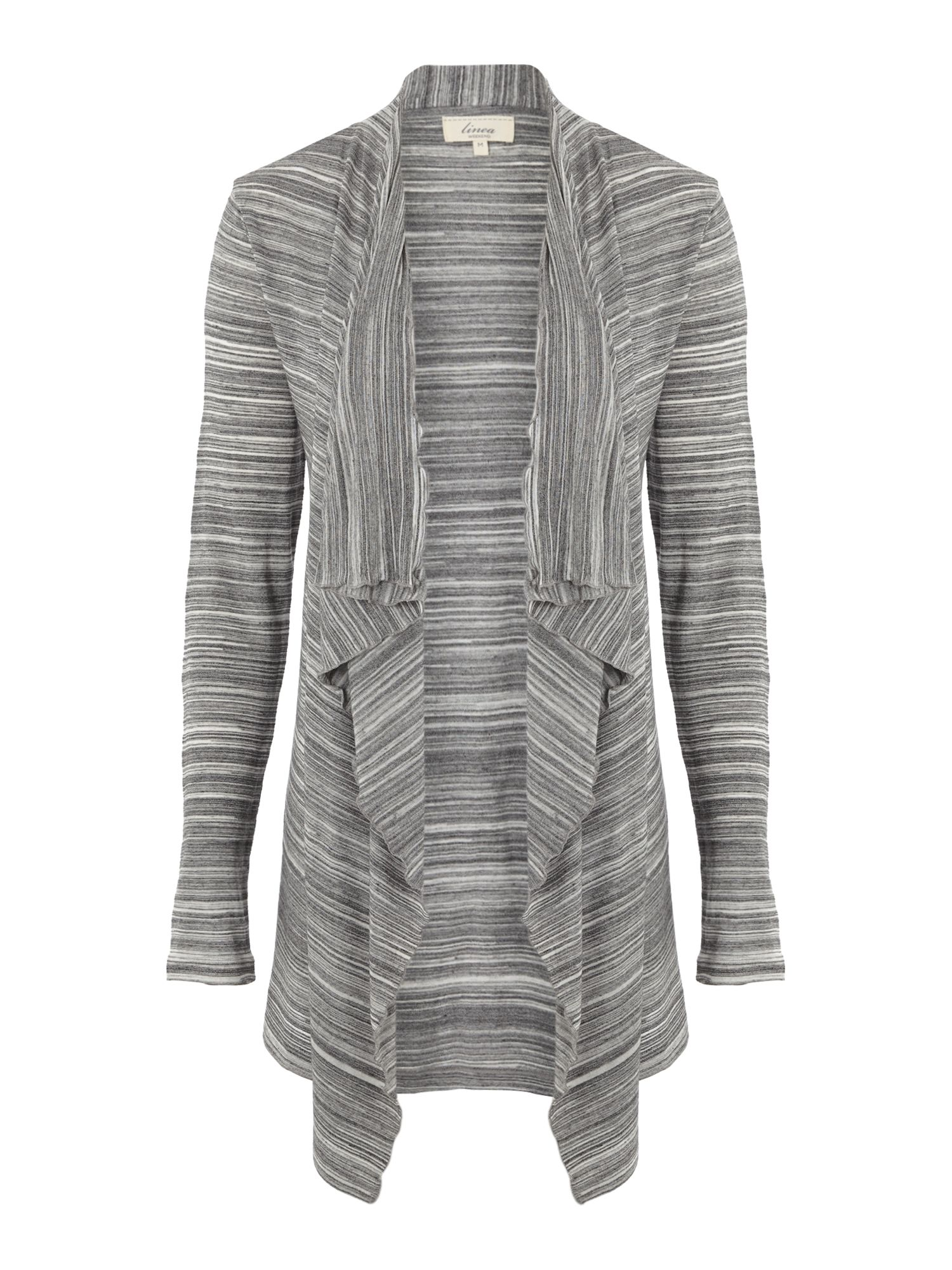 Linea weekend Ladies Waterfall Jersey Cardigan in Gray | Lyst