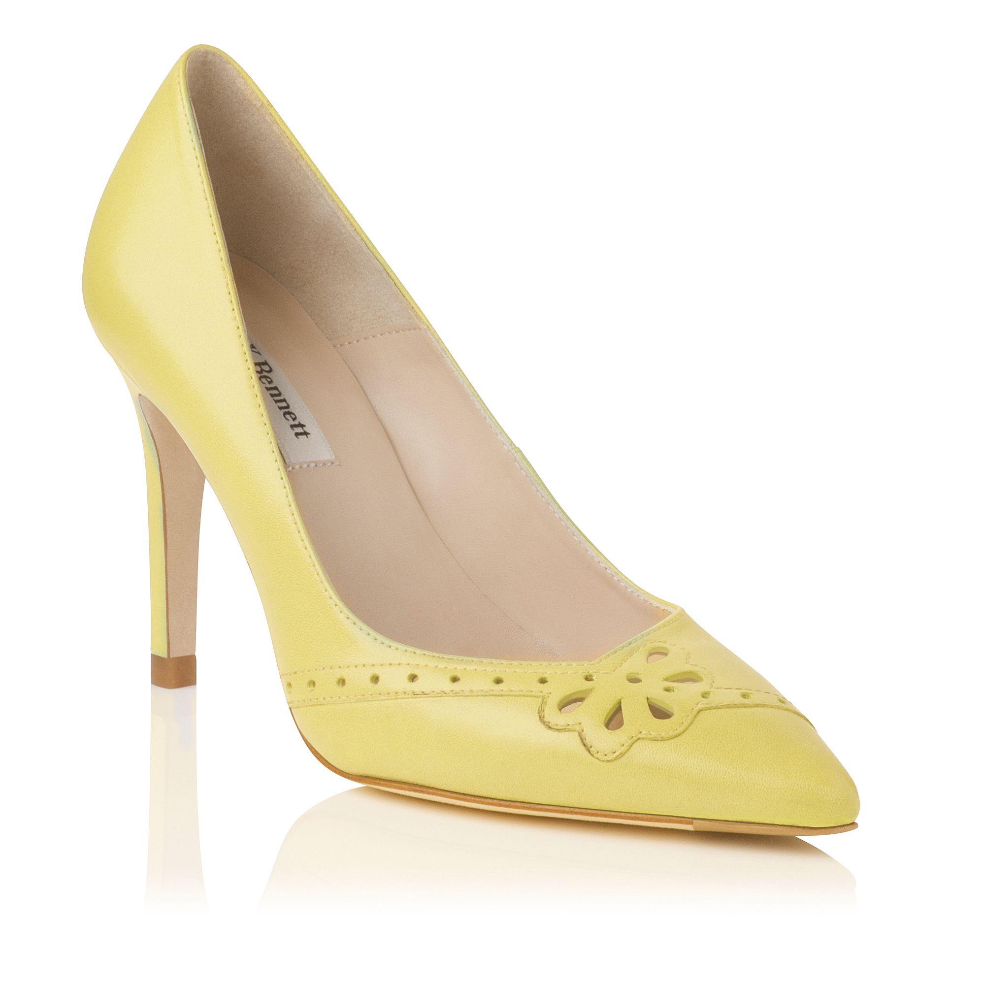 Lemon Yellow Court Shoes