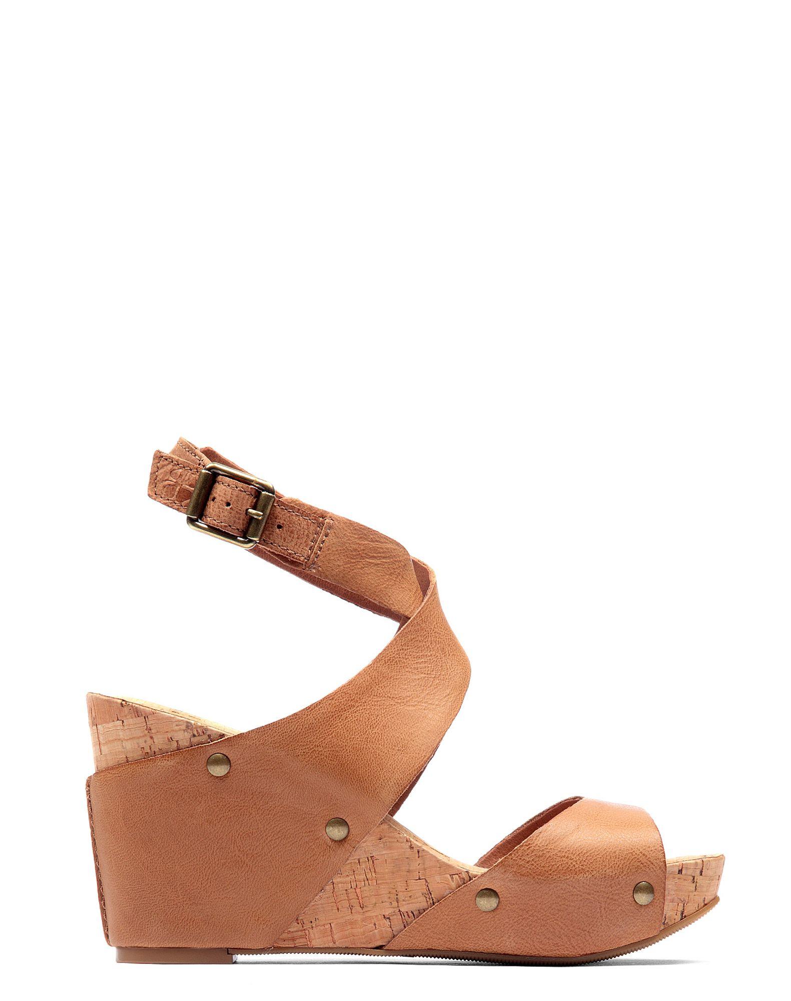 lucky brand wedge sandals in brown lyst