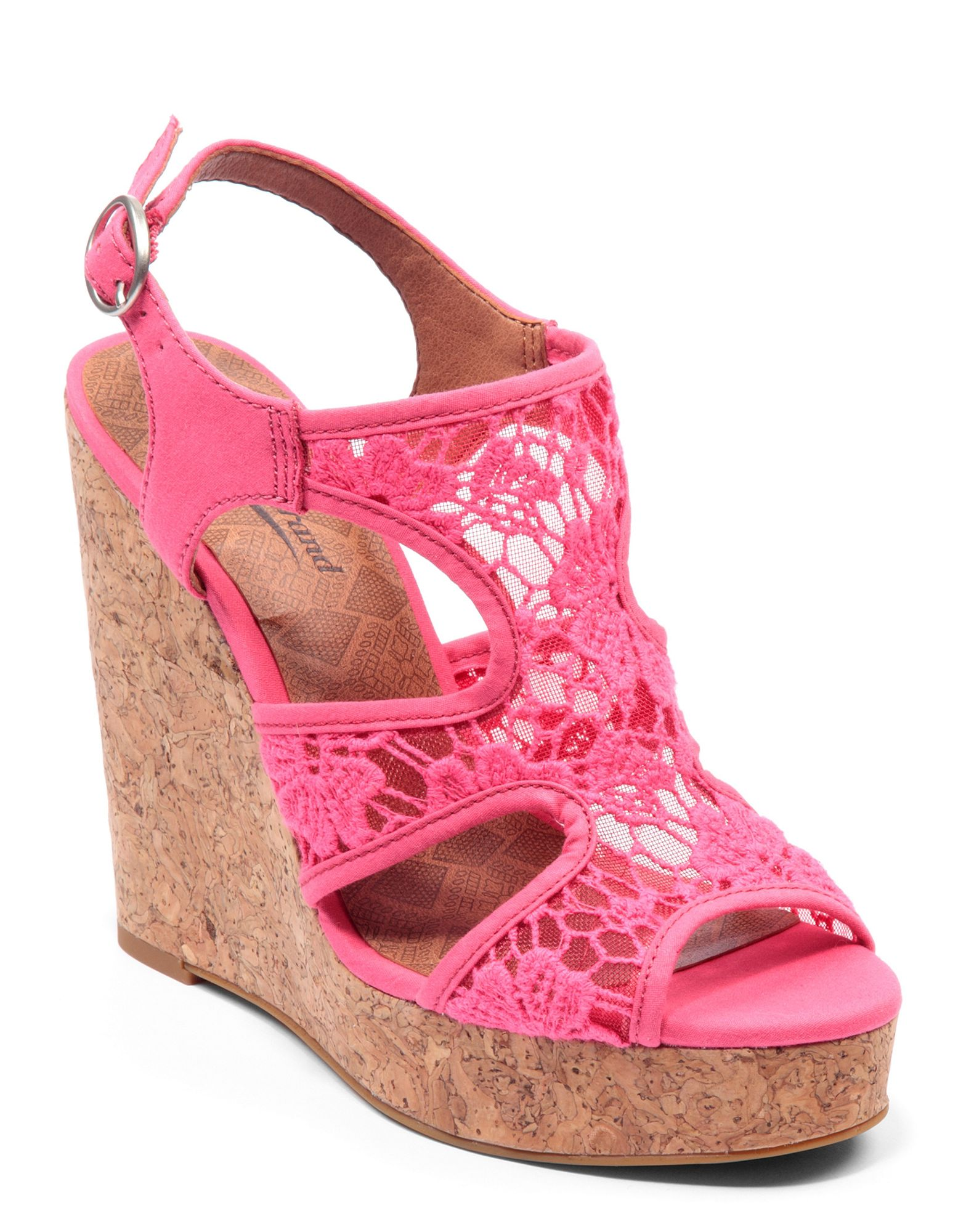 lucky brand riedel sandals in pink lyst