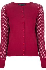 Marc By Marc Jacobs Perforated Sleeve Cardigan - Lyst
